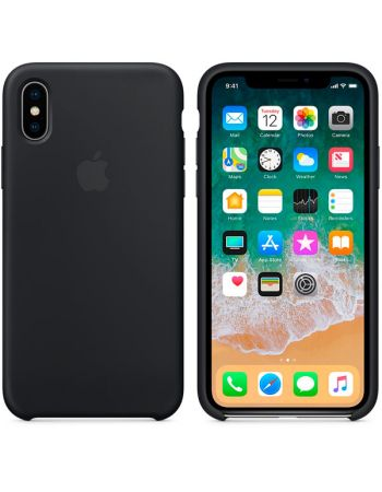 Чехол для iPhone Apple iPhone X Silicone Case Black
